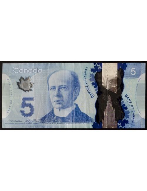 Лот #1493. 5 долларов Канада 2013 г. «Космическая программа» пластиковая банкнота