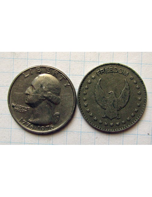 Лот #1492. 25 центов США, Жетон Freedom