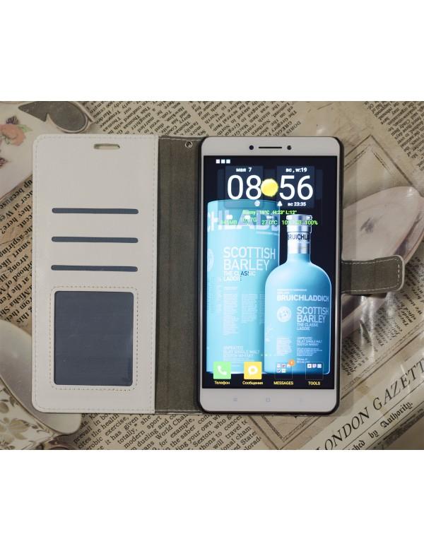 Кожаный чехол для смартфона Xiaomi Mi Max в развернутом виде