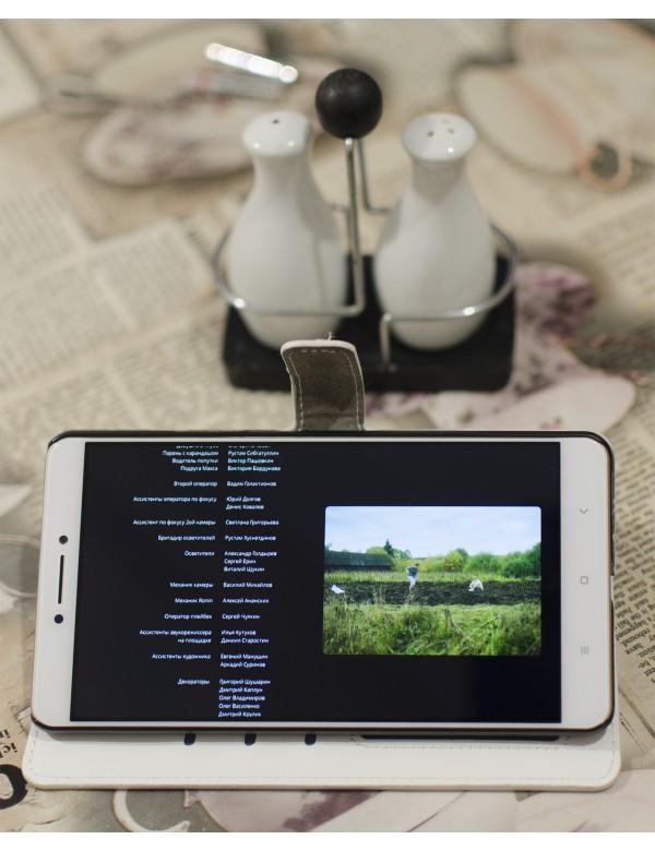 Кожаный чехол-книжка для Xiaomi Mi Max как подставка