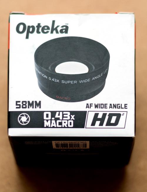 OPTSC584PFWA Opteka 58mm 0.43 Wide Angle Lens