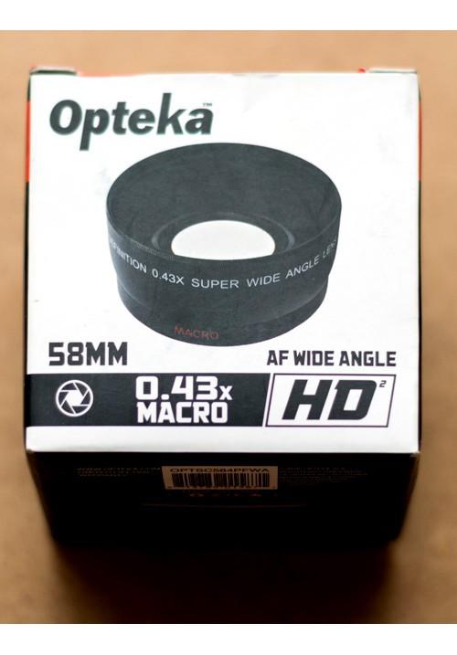 Макро насадка 0.43x на объектив 58mm OPTSC584PFWA Opteka