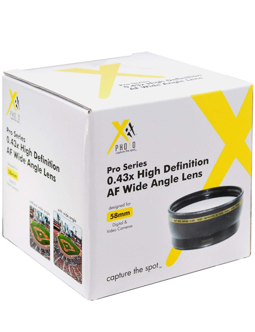 Xit XT58WAB 58mm 0.43 Pro Wide Angle Lens
