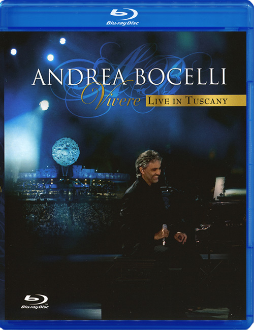 "Blu-ray disc Andrea Bocelli ""Vivere Live in Tuscany"""