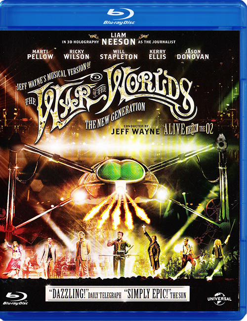 "Blu-ray фильм (блюрей диск) Jeff Wayne ""The War of the Worlds"""