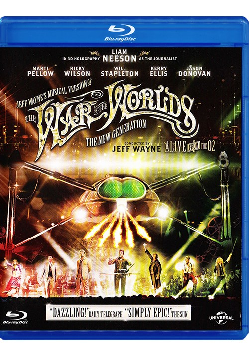 "Blu-ray фильм (блюрей диск) Jeff Wayne ""The War of the Worlds"""